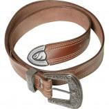 Ремень кожаный с Western пряжкой арт. 53803