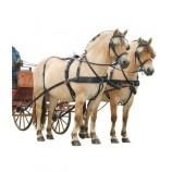 Переоснащаемая упряжь в экипаже, запряженном парой лошадей арт.49077